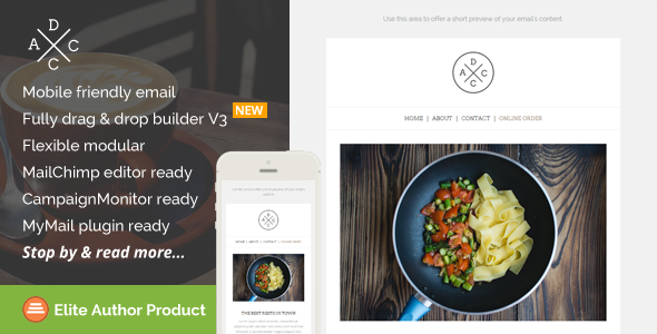 Acdc, Restaurant Email Template + Builder Access by saputrad ...