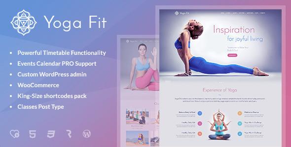 Yoga Fit - Sports, Fitness & Gym WordPress Theme by cmsmasters ...