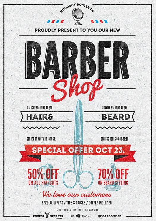 Spanduk Barbershop Cdr - contoh desain spanduk