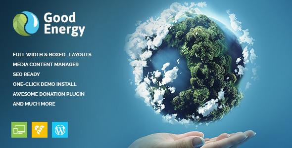 good energy ecology renewable energy company wordpress theme by