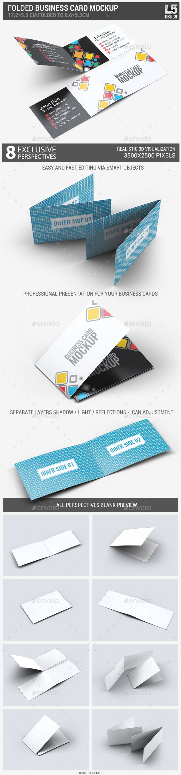 Tri Fold Business Card Template