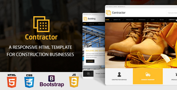 Contractor – Construction, Building HTML Template by KingKongthemes
