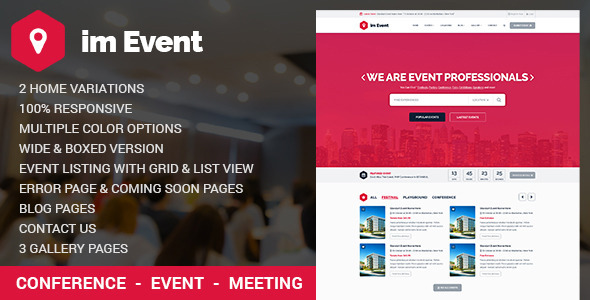 Event Management HTML Template with RTL version by Jthemes | ThemeForest