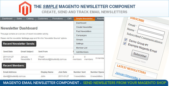 Magento Newsletter Manager
