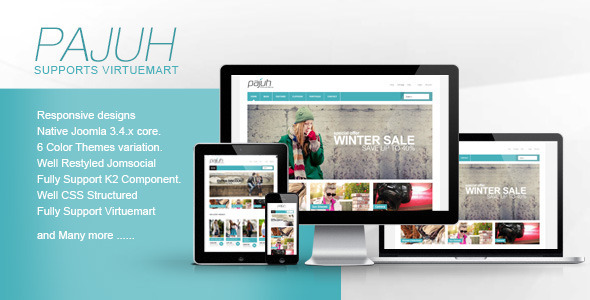 pajuh clean and responsive virtuemart templates by themesonic