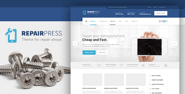 RepairPress - GSM, Phone Repair Shop WP by ProteusThemes   ThemeForest