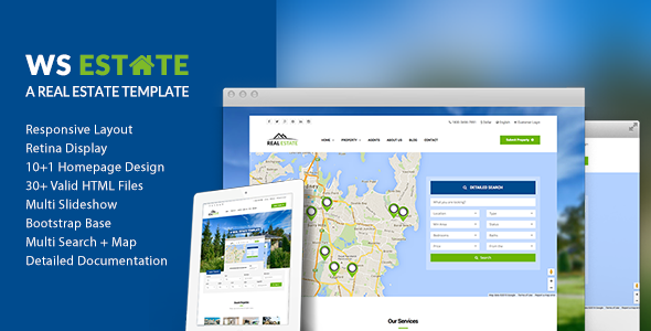 Ws estate responsive real estate html5 template by wordpressshowcase ws estate responsive real estate html5 template business corporate maxwellsz