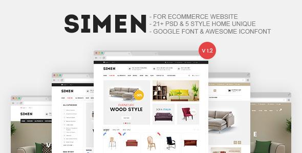Simen - Furniture Store E-Commerce PSD by snsdesigner | ThemeForest