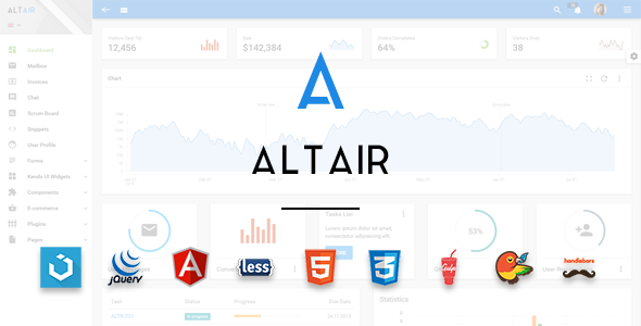 Altair Admin Material Design UIkit Template by tzd | ThemeForest