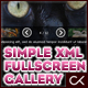 The Simple & Easy Fullscreen XML Image Gallery