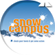 Snow campus stationery