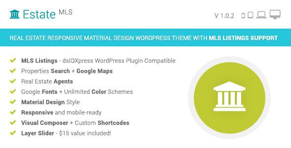 EstateMLS - Material Design Real Estate MLS Theme by Themes-Dojo ...