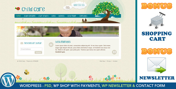 Child Care Creative - WordPress Shop & Newsletter (Children) for Sale