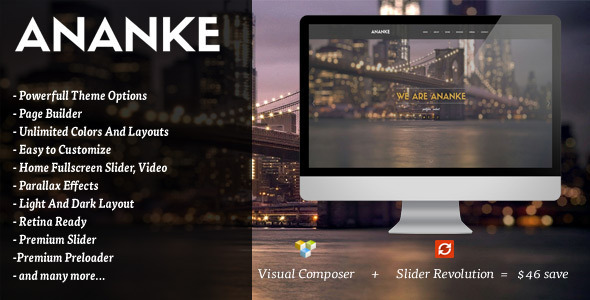 ananke one page parallax wordpress theme by oceanthemes