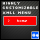 Highly Customizable XML Menu