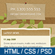 Chocolate & Coffee - HTML Template including PSD