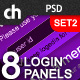 8 Modern & Web 2.0 Login/Signup Panels (SET 2)
