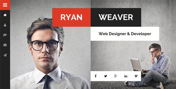 Divergent  Personal Vcard Resume Wordpress Theme By Egemenerd