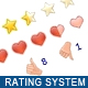 Javascript Star Rating Sistema
