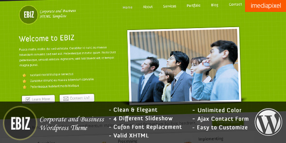 EBIZ - Corporate and Business WordPress Theme (Business) for Sale