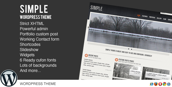 Simple WordPress (Blog / Magazine) for Sale