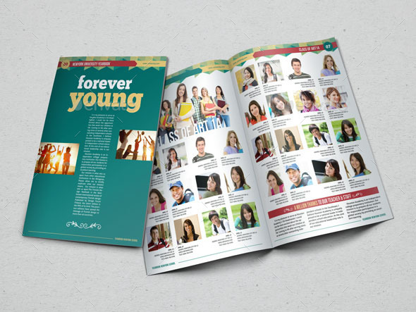 Powerpoint Yearbook Template Mandegarfo