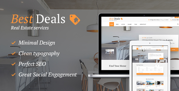 Best Deals   Property Sales U0026 Rental WordPress Theme   Real Estate WordPress