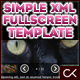 The Simple &#38; Easy Fullscreen XML Image Gallery Template