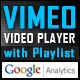Vimeo Video Player with Playlist & GoogleAnalytics
