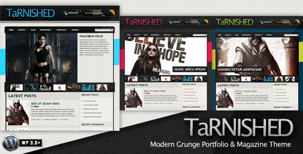 Tarnished - Modern Grunge WordPress Theme (Blog / Magazine) for Sale