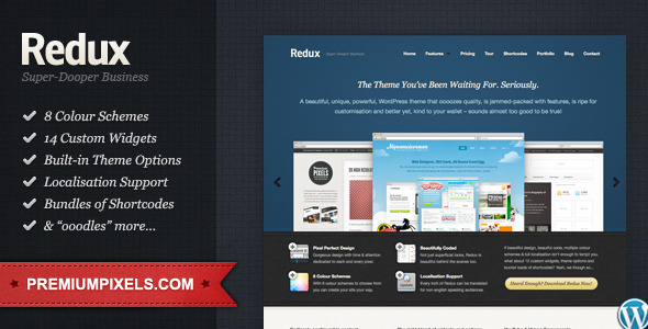 Redux: Business &amp; Portfolio WordPress Theme (Business) for Sale