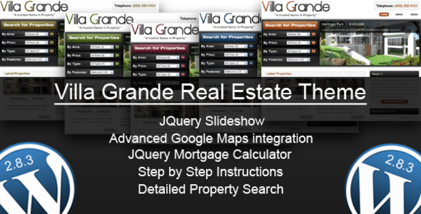 Themeforest: Villa Grande – WordPress Theme
