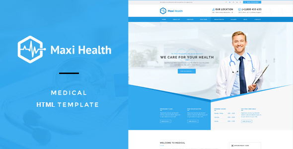 health template  Maxi Health : Medical & Health HTML Template by PremiumLayers ...