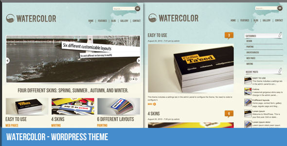 Watercolor WordPress Theme