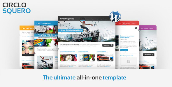 CircloSquero - Premium WordPress Theme (Corporate) for Sale