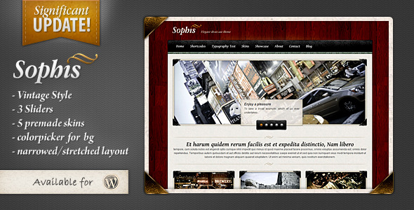 Sophis - elegant theme  (Portfolio) for Sale
