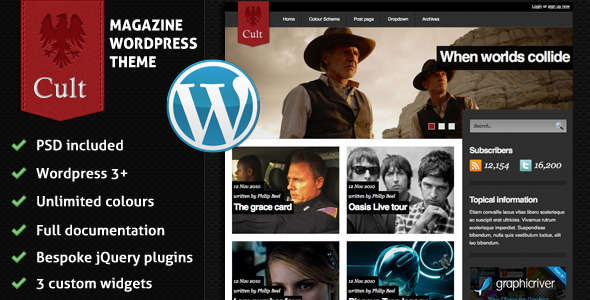 Cult - A stylish magazine theme (Blog / Magazine) for Sale