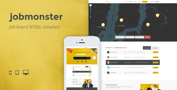 job application template in html  Jobmonster - Job Board HTML Template by TK-Themes | ThemeForest