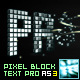 Pixel Block Text Pro AS3