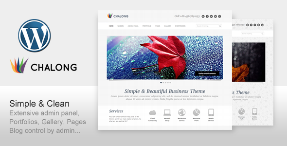 Chalong - Simple and Clean for Business Portfolio (Business) for Sale