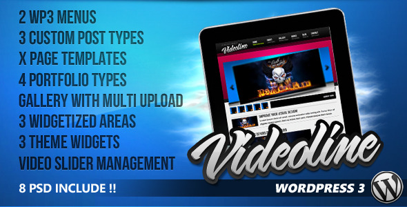 Videoline - WordPress Magazine (Blog / Magazine) for Sale