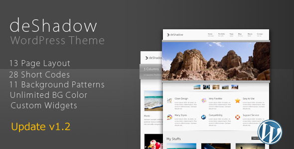 deShadow (Portfolio) WordPress theme for Sale