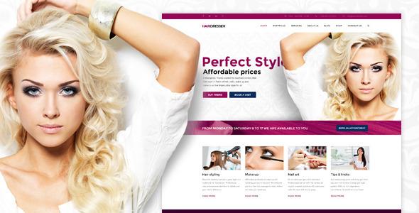 Hairdresser - Hair Salon WordPress theme by Anps | ThemeForest
