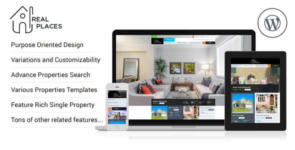 Real Places - Responsive WordPress Real Estate Theme by InspiryThemes