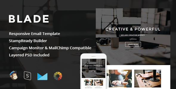 Blade - Responsive Email + StampReady Builder by LEVELII | ThemeForest