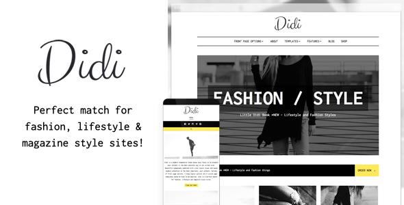 Didi fashion blog wordpress theme by anarieldesign themeforest pronofoot35fo Gallery