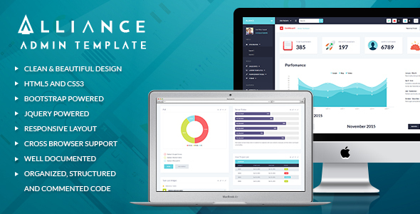 alliance responsive bootstrap admin template by themerex