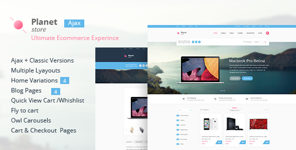 Planet Store - Ecommerce HTML Template by xvelopers | ThemeForest
