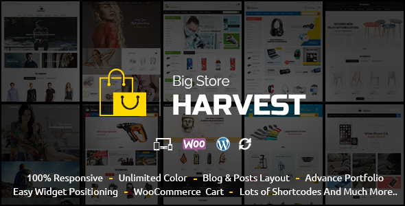 Harvest - Multipurpose WooCommerce Theme by TemplateMela | ThemeForest