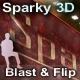 Sparky 3D Flip Banner Rotator (xml)